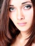 Ojos hermosos en la muchacha Foto de archivo libre de regalías