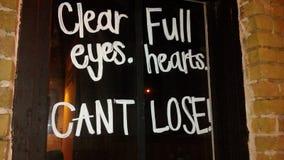 Ojos llenos claros Corazones ¡NO PUEDE PERDER! imágenes de archivo libres de regalías