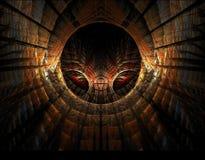 Ojos que miran con fijeza en el túnel stock de ilustración
