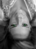 Ojos verdes imagen de archivo