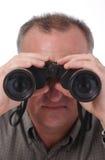 Ojos visibles en prismáticos Imagenes de archivo