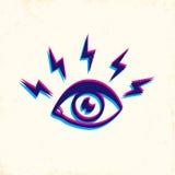 Ojos y relámpago Imagen de archivo libre de regalías