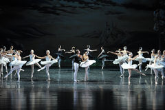 Ojta forgive the prince-The last scene of Swan Lake-ballet Swan Lake Royalty Free Stock Photography