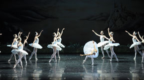 Ojta  heartbroken committed suicide by jumping into a river-The last scene of Swan Lake-ballet Swan Lake Stock Photography