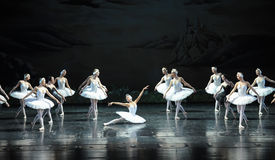 Ojta  heartbroken committed suicide by jumping into a river-The last scene of Swan Lake-ballet Swan Lake Stock Images
