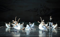 Ojta  heartbroken committed suicide by jumping into a river-The last scene of Swan Lake-ballet Swan Lake Stock Photos