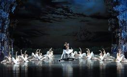 Ojta and Prince happy pair-The last scene of Swan Lake-ballet Swan Lake Stock Photos