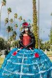 Okänd kvinna på den 15th årliga dagen av den döda festivalen Fotografering för Bildbyråer
