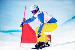 Okänd snowboarder Royaltyfria Bilder