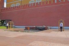 Okänd soldat för Moskva Arkivfoton