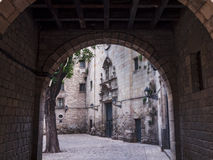 Okända Barcelona royaltyfri bild
