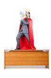 okładkowego mężczyzna czerwony biel Fotografia Royalty Free