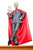 okładkowego mężczyzna czerwony biel Zdjęcie Stock