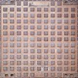 okładkowego manhole ośniedziała tekstura Zdjęcie Royalty Free