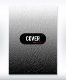 Okładkowego projekta czarny i biały kropkowany gradientowy tło Zdjęcia Royalty Free