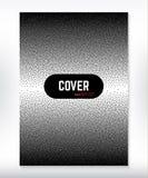 Okładkowego projekta czarny i biały kropkowany gradientowy tło Obrazy Royalty Free