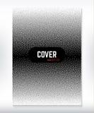 Okładkowego projekta czarny i biały kropkowany gradientowy tło Zdjęcie Stock