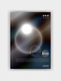 Okładkowego projekta futurystyczni okręgi z zmrokiem - błękitny metal colours półdupki Fotografia Royalty Free