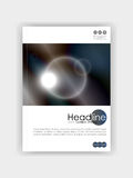 Okładkowego projekta futurystyczni okręgi z zmrokiem - błękitny metal colours półdupki Zdjęcie Royalty Free