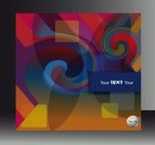 Okładkowej broszury kształta abstrakcjonistyczny pstrobarwny ślimakowaty tło royalty ilustracja