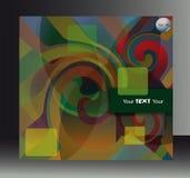 Okładkowej broszury kształta abstrakcjonistyczny pstrobarwny ślimakowaty tło ilustracji