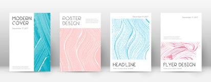 Okładkowej strony projekta szablon Minimalny broszurka układ Powabna modna abstrakcjonistyczna okładkowa strona Menchie i b Ilustracji