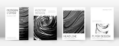 Okładkowej strony projekta szablon Minimalny broszurka układ Zniewalająca modna abstrakcjonistyczna okładkowa strona Czerni a Ilustracja Wektor
