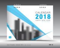 Okładkowy kalendarza 2018 szablon Książkowa pokrywa Biznesowy broszurki ulotki projekt Fotografia Stock