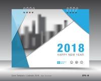 Okładkowy kalendarza 2018 szablon Książkowa pokrywa Biznesowy broszurki ulotki projekt Zdjęcie Royalty Free