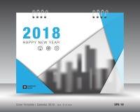Okładkowy kalendarza 2018 szablon Książkowa pokrywa Biznesowy broszurki ulotki projekt Obrazy Royalty Free