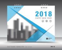 Okładkowy kalendarza 2018 szablon Książkowa pokrywa Biznesowy broszurki ulotki projekt Obraz Stock