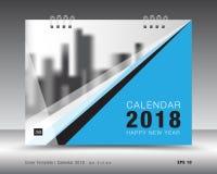 Okładkowy kalendarza 2018 szablon Książkowa pokrywa Biznesowy broszurki ulotki projekt Fotografia Royalty Free