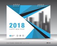Okładkowy kalendarza 2018 szablon Książkowa pokrywa Biznesowy broszurki ulotki projekt Zdjęcia Stock