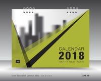 Okładkowy kalendarza 2018 szablon Zielony książkowy układ Biznesowy broszurki ulotki projekt reklama broszura Fotografia Royalty Free