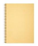 Okładkowy notatnik na białym tle Fotografia Stock
