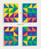 Okładkowy projekta szablon dla reklamować Abstrakcjonistyczny kolorowy geometryczny projekt Fotografia Stock