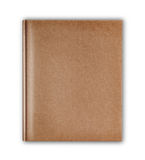 okładkowy stary styl przetwarza brown notatnika odizolowywającego na białym backgro Fotografia Royalty Free