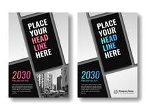 Okładkowy szablon dla książek, magazyn, broszurki, korporacyjne prezentacje Zdjęcie Stock