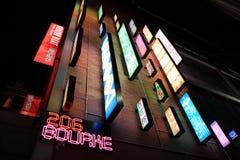 亚洲卡拉OK演唱酒吧氖 免版税库存图片