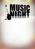 卡拉OK演唱音乐海报 免版税库存图片