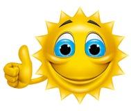 太阳ok 库存照片