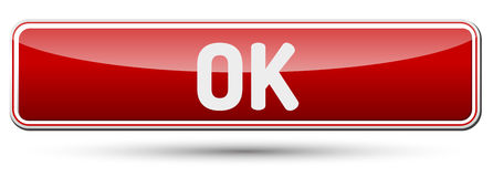 OK - Abstract beautiful button with text. Stock Image