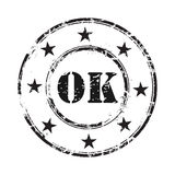 Ok abstract grunge rubber stamp background Royalty Free Stock Photos