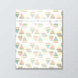 Okładka magazynu z geometrycznymi wzorami Magazyn strony szablon Obraz Stock