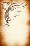 okładkowa twarzy strony kobieta Zdjęcia Royalty Free