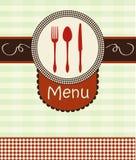 Okładkowy menu z kitchenware Zdjęcie Royalty Free