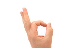 OK. All right. Man's hand. Royalty Free Stock Images