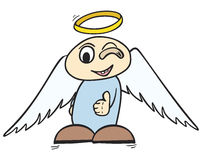 OK angel Stock Photo