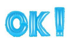Ok, ok, błękitny kolor Fotografia Royalty Free