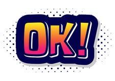 Free OK Bubble Cartoon Stock Photography - 118336392